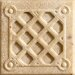 "<strong>Marazzi</strong> Romancing the Stone 2"" x 2"" Compressed Stone Weave Insert in Ivory"