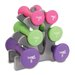 <strong>Tone Fitness</strong> 20 lbs Hourglass Dumbbell Set