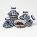 <strong>Aqua Fish Design Mini Tagines (Set of Four)</strong> by Le Souk Ceramique