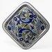 """<strong>Le Souk Ceramique</strong> Aqua Fish Design 11.5"""" Square Platter"""