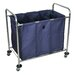 Industrial 3 Bin Laundry Cart