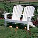 Seaside Casual Adirondack Shell Back Garden Bench