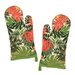 <strong>Design Imports</strong> Palm Paradise Print Oven Mitt (Set of 2)