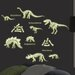 WallPops! MyStyle Glow in the Dark Dinosaurs Wall Decal