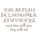 Espresso Brown Script Wall Decal Set