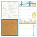WallPops! Art Kit Globe Trotter Organization Chalkboard Wall Decal