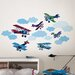 Wall Art Mighty Vintage Planes Wall Decal Kit