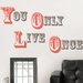 Wall Art Kit YOLO You Only Live Once Wall Quote Decal
