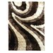 <strong>DonnieAnn Company</strong> Flash Shaggy Chocolate Abstract Wave Rug