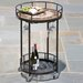 <strong>Alfresco Home</strong> Compass Mosaic Outdoor Serving Cart