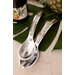 Kindwer 2 Piece Aluminum with Mother of Pearl Inlay Serving Set