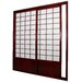 Single Sided Sliding Door  Shoji Room Divider in Rosewood