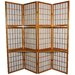 "65"" Window Pane Room Divider with Shelf in Honey"