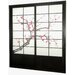 Cherry Blossom Shoji Sliding Door Kit in Black