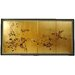 "18"" Gold Leaf Cherry Blossom Silk Screen with Bracket"