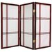 3 Feet Tall Double Cross Shoji Screen in Rosewood