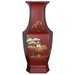 14&quot; Hexagonal Vase in Red