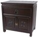 Oriental Furniture Bedside Cabinet in Dark Rosewood