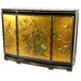 Gold Leaf Slant Front Cabinet