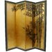 5.5Feet Tall Gold Leaf Bamboo Room Divider