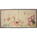"""<strong>Oriental Furniture</strong> 36"""" x 72"""" Birds and Flowers on the Tree Silk 4 Panel Room Divider"""