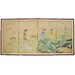 """<strong>36"""" x 72"""" Ladies in The Garden 4 Panel Room Divider</strong> by Oriental Furniture"""