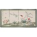 "<strong>Oriental Furniture</strong> 36"" x 72"" Birds and Flowers Courting 4 Panel Room Divider"