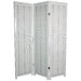 Three Panel Wooden Shutter Screen in White