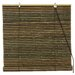 Burnt Bamboo Roll Up Blinds in Natural Brown
