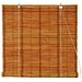 Burnt Bamboo Roll Up Blinds in Two Tone Honey