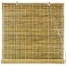 Burnt Bamboo Roll Up Blinds in Natural