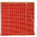 Bamboo Roll Up Blinds in Red