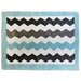 <strong>My Baby Sam</strong> Chevron Baby Aqua/Gray Kids Rug