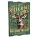 <strong>Whitetail Deer Wooden Cabin Sign Wall Decor</strong> by American Expedition