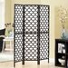"<strong>Monarch Specialties Inc.</strong> 71"" x 54"" Frame Lantern Design Folding 3 Panel Room Divider"