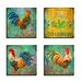 <strong>Stupell Industries</strong> Home Décor Parisian Rooster 4 Piece Graphic Art on Canvas Set