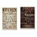 Stupell Industries Dining and Kitchen 2 Piece Textual Art Plaque Set