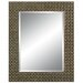 Richly Embossed Wall Mirror in Dark Gold Silver