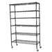 <strong>Mobile 6 Shelf Wire Shelving</strong> by Sandusky Cabinets