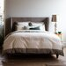 Modern Border Smoke Duvet Cover by DwellStudio