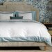 Modern Border Mist Duvet Cover by DwellStudio