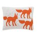 <strong>Foxes Knitted Boudoir Pillow</strong> by DwellStudio