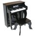 Elite Spinet Piano in Black