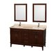 "<strong>Wyndham Collection</strong> Hatton 60"" Double Bathroom Vanity Set"