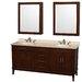 "Wyndham Collection Hatton 72"" Double Bathroom Vanity Set"