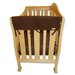 "<strong>2 Pack of 27"" Brown Fleece Side Crib Rail Cover</strong> by Trend Lab"