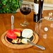 <strong>Picnic At Ascot</strong> Provence Glass Dome Bamboo and Slate Cheese Set