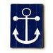Artehouse LLC Navy Anchor Wood Sign