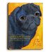 <strong>Black Pug Wood Sign</strong> by Artehouse LLC