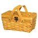 <strong>Quickway Imports</strong> Woodchip Picnic Basket with Folding Handles